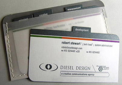 DIESEL design business cards