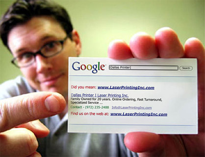 Google Business Card Idea