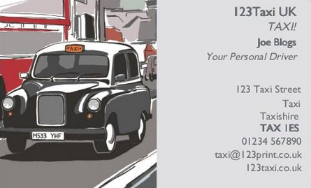 5 ways to make your business cards stand out 123print uk blog business card with a london cab design reheart Choice Image