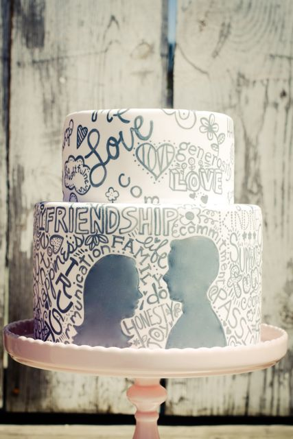 Typographical Wedding Cake