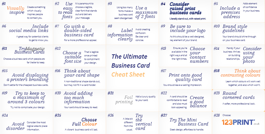 27 Quick Tips for Creating the Ultimate Business Card - 123Print UK Blog