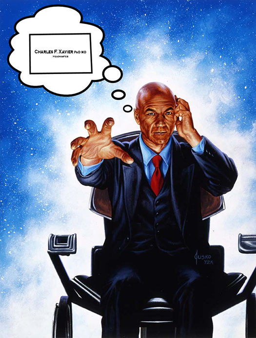 professor x business card