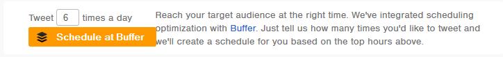 Buffer Schedule - Twitter