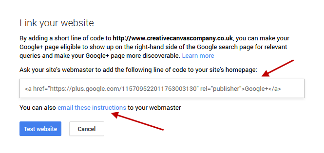 Google + Webmaster