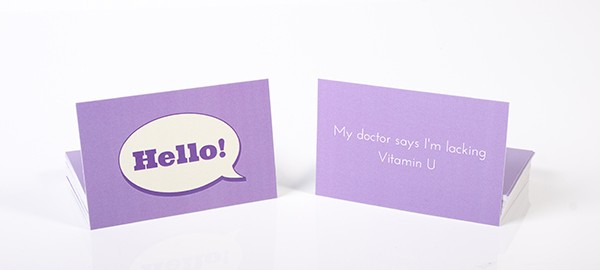 Chat Up Card Purple