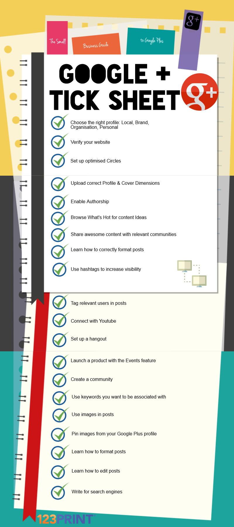 Google Plus Tick Sheet Infographic