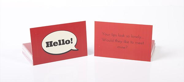 chat up card red