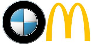 Bmw and Mcdonalds Logo