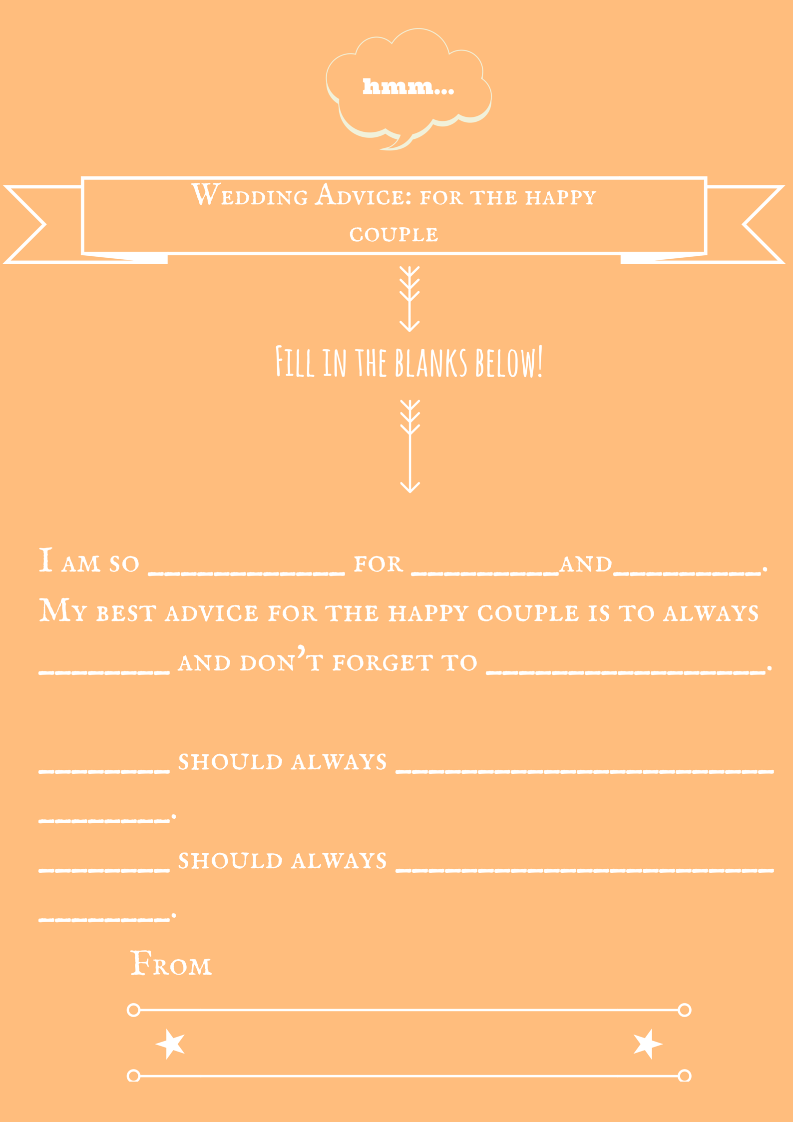 wedding advice game 1