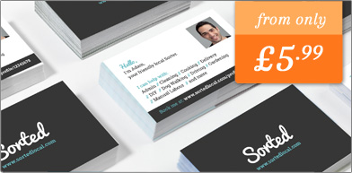SortedLocal Full Colour Business Cards